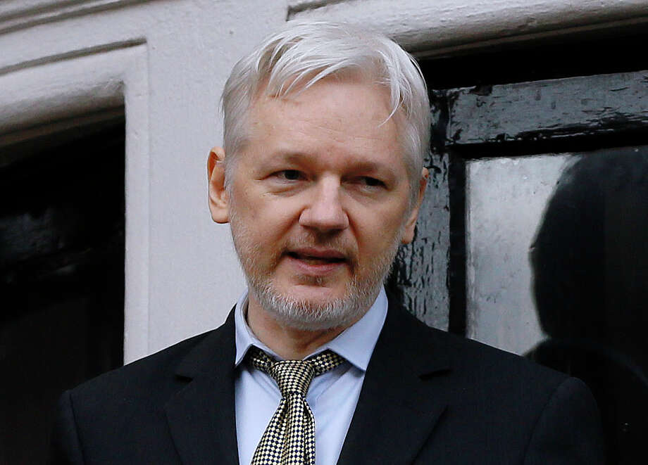 "FILE - In this Friday Feb. 5, 2016 file photo, Wikileaks founder Julian Assange speaks from the balcony of the Ecuadorean Embassy in London. Assange will be interviewed by Fox News Channel's Sean Hannity on ""Hannity,"" airing, Tuesday, Jan. 3, 2017 at 10 p.m. (AP Photo/Kirsty Wigglesworth, File) ORG XMIT: NYET222 Photo: Kirsty Wigglesworth / Copyright 2017 The Associated Press. All rights reserved."
