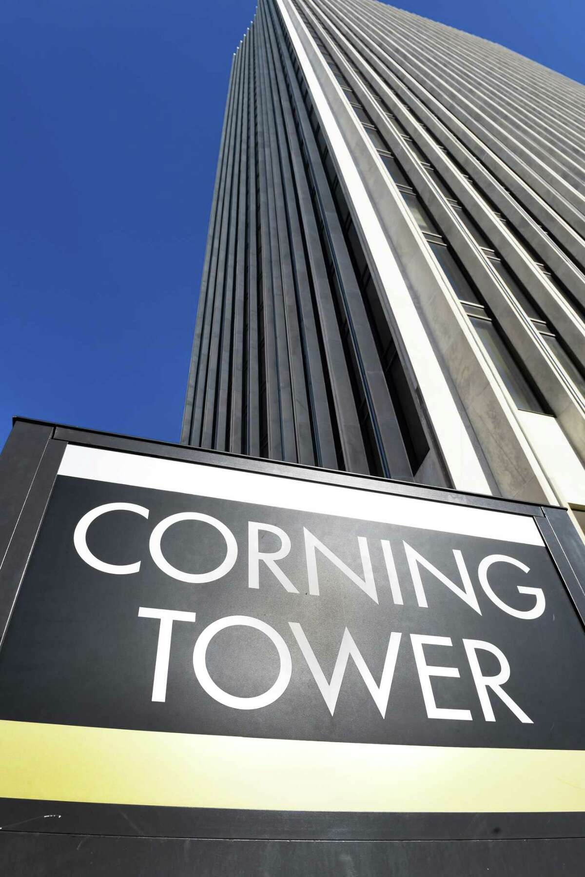The Corning Tower on the Empire State Plaza Friday Feb. 17, 2017 in Albany, NY. (John Carl D'Annibale / Times Union)