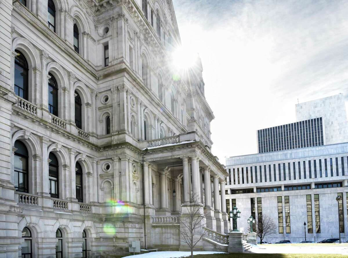 The Capitol Building, left, and the Legislative Office Building Friday Feb. 17, 2017 in Albany, NY. (John Carl D'Annibale / Times Union)