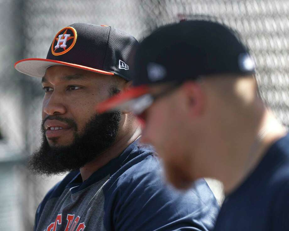 Astros First baseman Jon Singleton is a non-roster invitee at spring training after being waived last year. Photo: Karen Warren, Staff Photographer / 2017 Houston Chronicle