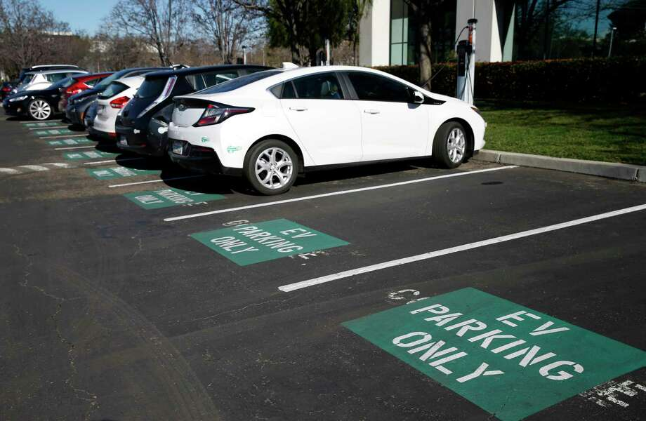 Charging stations are available for electric vehicles at the U.S. headquarters of NIO in San Jose, Calif. Photo: Paul Chinn, Staff / ONLINE_YES