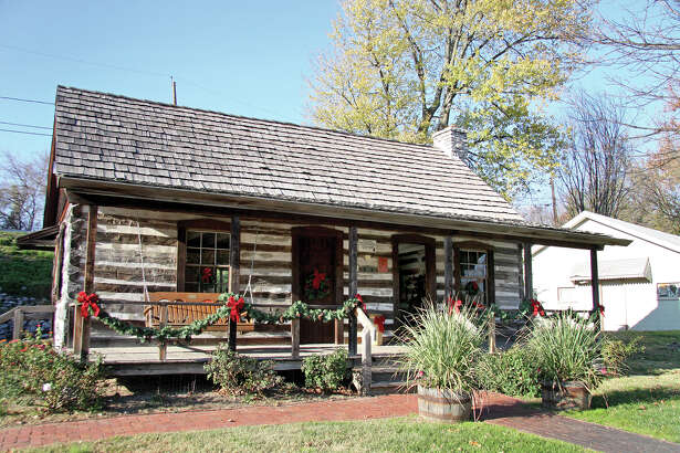 Glen Carbon's historic Yanda Log Cabin on Main Street.