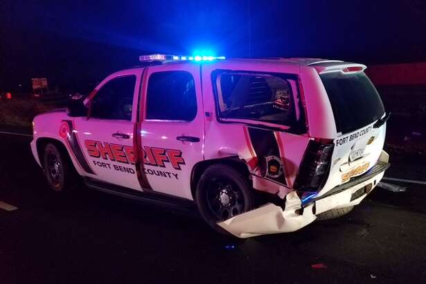 A drunk driver crashed into a Fort Bend County sheriff's deputy Saturday morning.