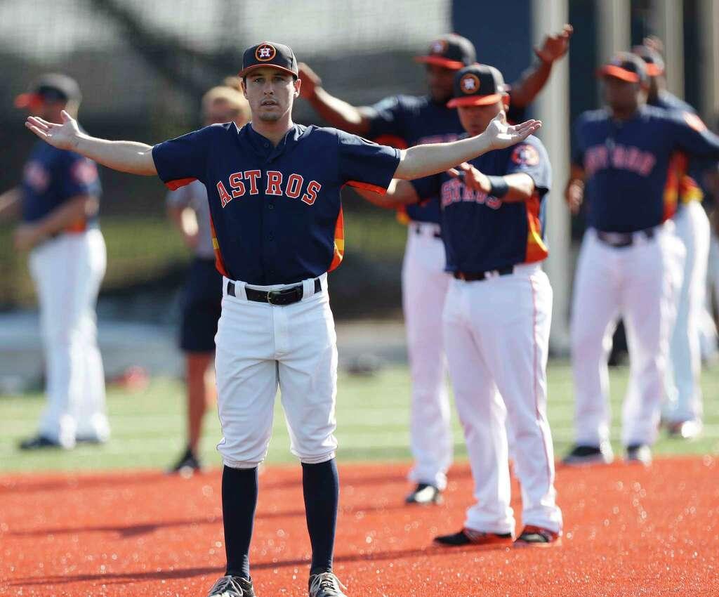 astros catchers brian mccann and evan gattis : baseball