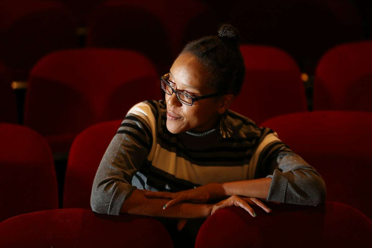 """Desiree Rogers sits for a portrait before she rehearses in """"Leaving the Blues"""" at the New Conservatory Theatre Center on Friday, Feb. 17, 2017, in San Francisco, Calif. Rogers will play jazz singer-songwriter Alberta Hunter."""