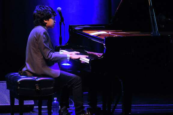 Jazz prodigy Joey Alexander,13, performs at the Wortham Theater Friday Feb. 17, 2017.(Dave Rossman photo)