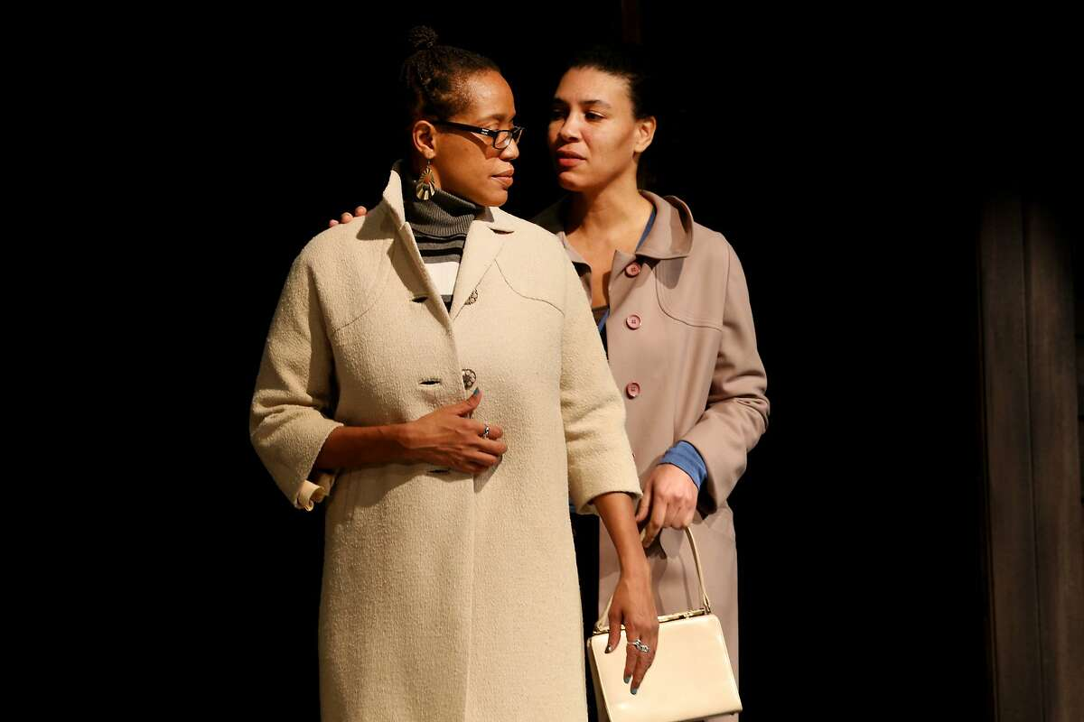 """From left: Desiree Rogers (Alberta Hunter) and Leontyne Mbele-Mbong (Lettie) rehearse during """"Leaving the Blues"""" at the New Conservatory Theatre Center on Saturday, Feb. 18, 2017, in San Francisco, Calif."""