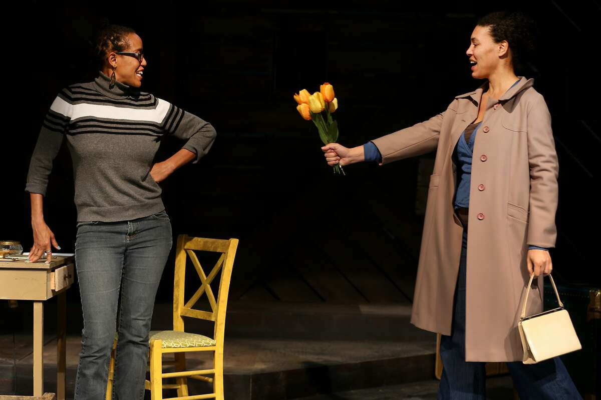 """From left: Desiree Rogers (Alberta Hunter) and Leontyne Mbele-Mbong (Lettie) rehearse during """"Leaving the Blues"""" at the New Conservatory Theatre Center on Friday, Feb. 17, 2017, in San Francisco, Calif."""