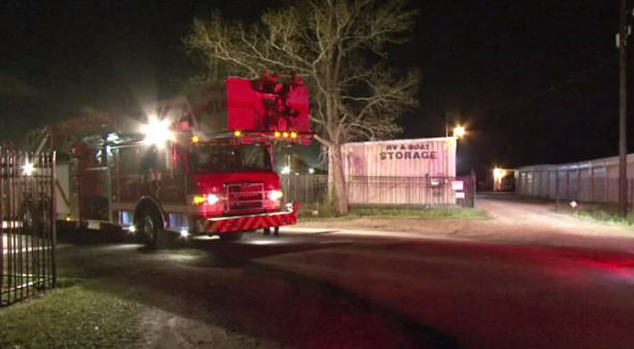 An overnight fire at RV & Boat Storage destroyed on dumptruck.
