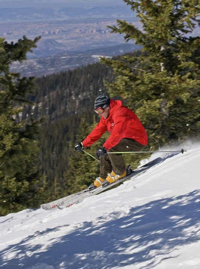 Ski Santa Fe is a family friendly ski mountain in the Sangre de Cristo range, just 16 miles from downtown Santa Fe. Photo: Courtesy Lee Klopfer