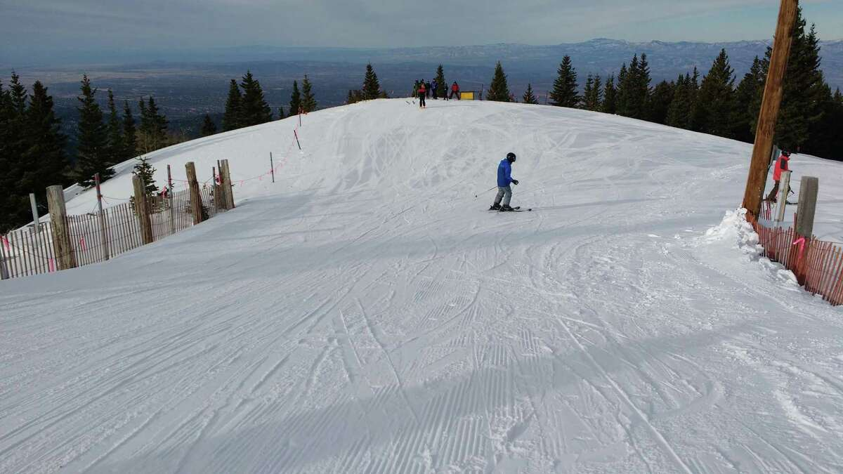 A view from a peak above 12,000 feet at Ski Santa Fe in Santa Fe National Forest's Sangre de Cristo Mountains.