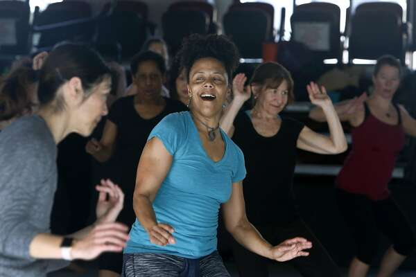 Amara Tabor-Smith leads a rhythm and motion exercise class at ODC dance studios in San Francisco, Calif. on Saturday, Feb. 18, 2017. Many people are turning to dance as a way of relieving post-election stress.