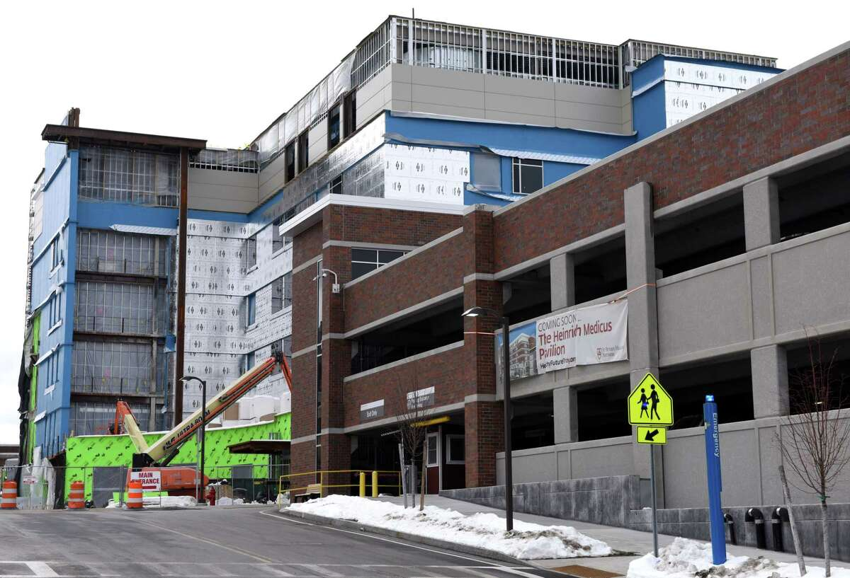 Construction work continues on the new wing at Samaritan Hospital on Thursday, Feb. 16, 2017, in Troy N.Y. (Will Waldron/Times Union)
