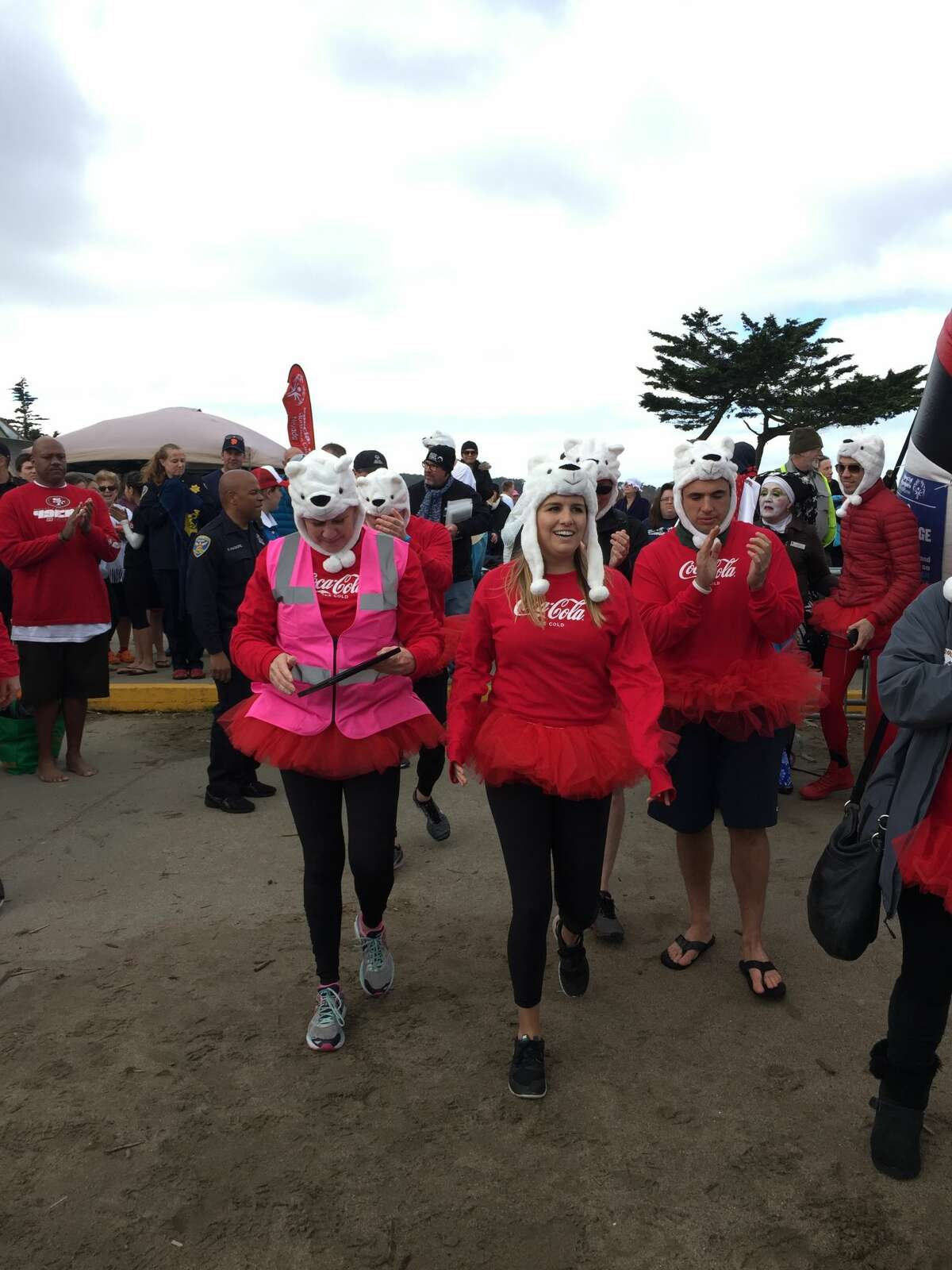 The annual Polar Plunge took place at the Little Marina Green in San Francisco on Feb. 18. The 3k/5k run benefits the Northern California Special Olympics and ends with a chilly dip in the Bay. Costumes are recommended.