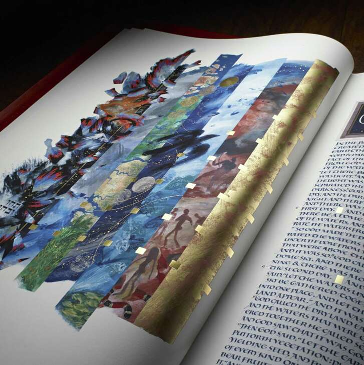 The Saint John's Bible Heritage Edition. Creation, by Donald Jackson. (Photo courtesy of Saint John's University, Collegeville, Minnesota)