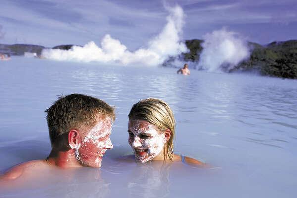 TRAVEL ICELAND -- The Blue Lagoon   Ran on: 07-17-2005 Soaking in Iceland's  Blue Lagoon.  Ran on: 07-17-2005
