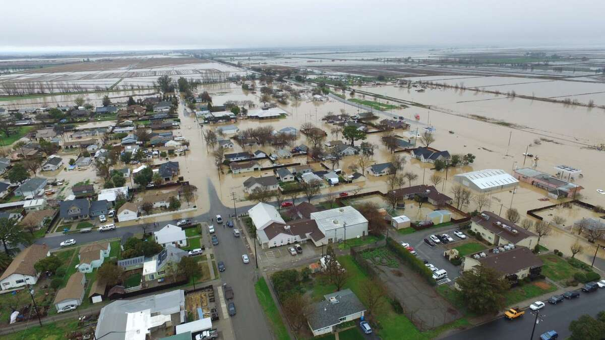 Maxwell in Colusa County near I-5 was among the towns hardest hit in the latest storm.