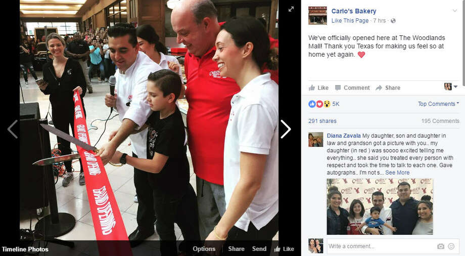 Carlo's Bakery made its Houston-area debut at the Woodlands Mall on Saturday. Feb.18, but the celebration quickly turned sour.Photo: Carlo's Bakery Facebook Photo: Carlo's Bakery Facebook