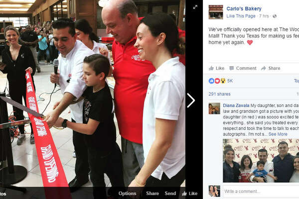 Carlo's Bakery made its Houston-area debut at the Woodlands Mall on Saturday. Feb.18, but the celebration quickly turned sour. 