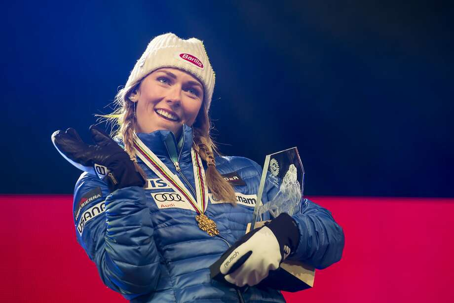 Mikaela Shiffrin is considered the early favorite for gold in slalom at the 2018 Winter Olympics. Photo: Gian Ehrenzeller, Associated Press