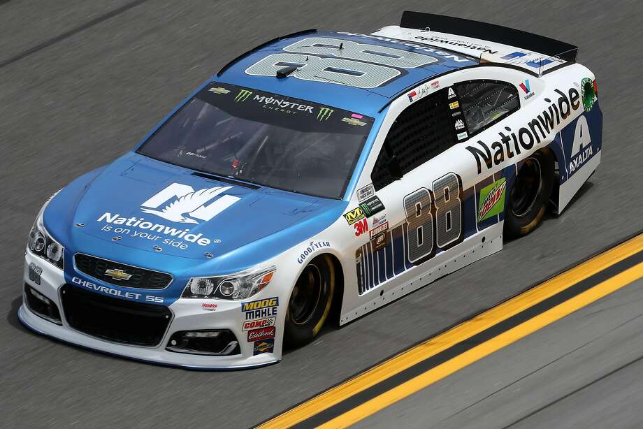 Dale Earnhardt Jr. takes a spoin around Daytona during practice for the Monster Energy NASCAR Cup Series' Daytona 500. Photo: Chris Graythen, Getty Images