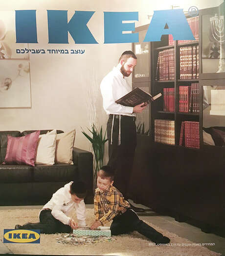 The cover of a recent Ikea catalog targeted to ultra-Orthodox Jews in Israel. Photo: Photo Courtesy Of Sam Sokol/RNS