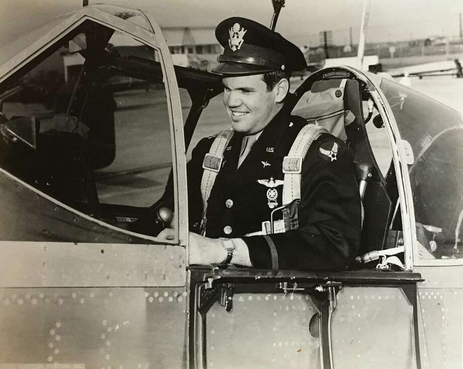 Bill Hensley, sitting in the cockpit of a fighter, served as a B-29 pilot in the Asian-Pacific Theater during World War II. Photo: Courtesy Photo