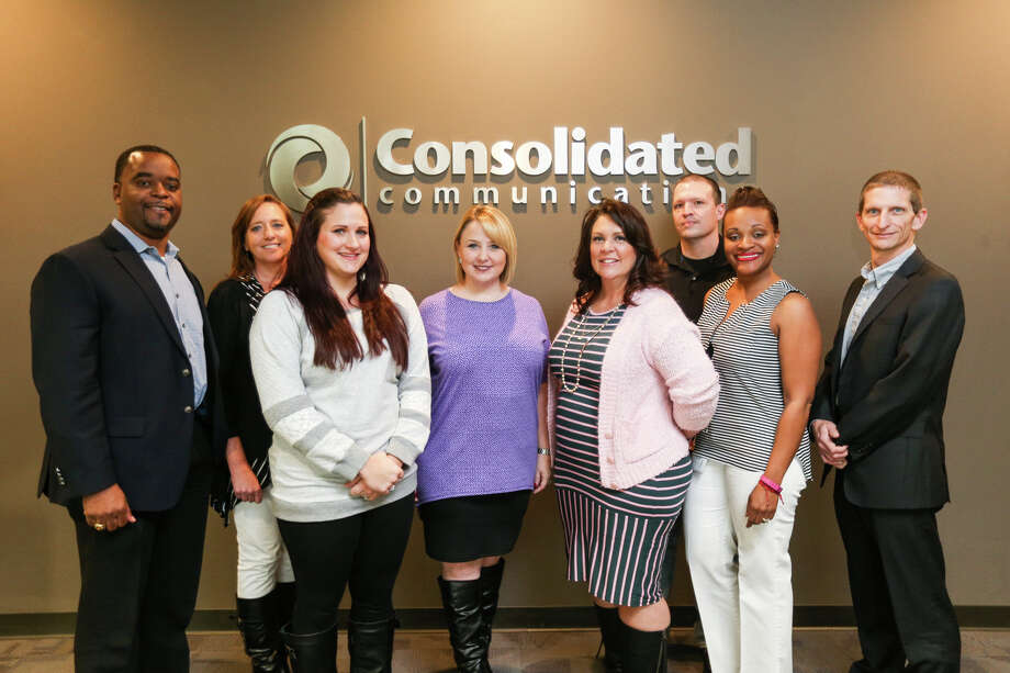 Employees of Consolidated Communications, who were awarded Large Business of the Year by the Conroe/Lake Conroe Chamber of Commerce on Friday, Feb. 10, 2017. Photo: Michael Minasi, Staff Photographer / © 2017 Houston Chronicle