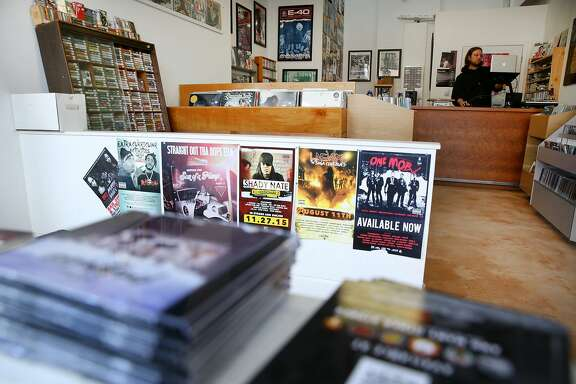 Andrew Nosnitsky, the store owner, at Park Boulevard Records on Saturday, Feb. 18, 2017, in Oakland, Calif.