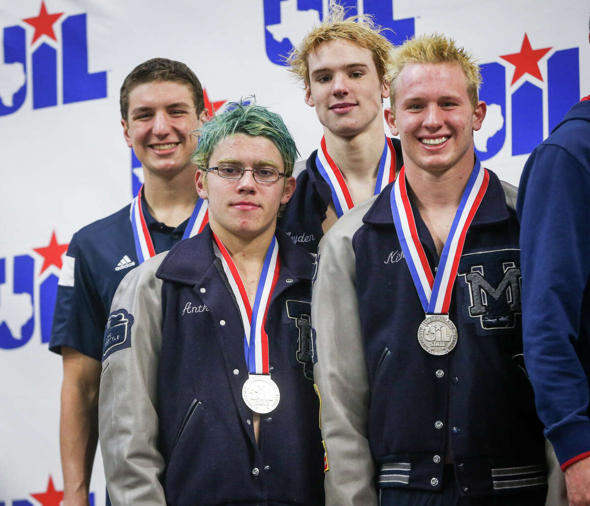 Tomball Memorial places second in the boys 400-yard freestyle relay during the Class 5A UIL Swimming and Diving State Meet on Saturday, Feb. 18, 2017, in Austin. (Michael Minasi / Chronicle)