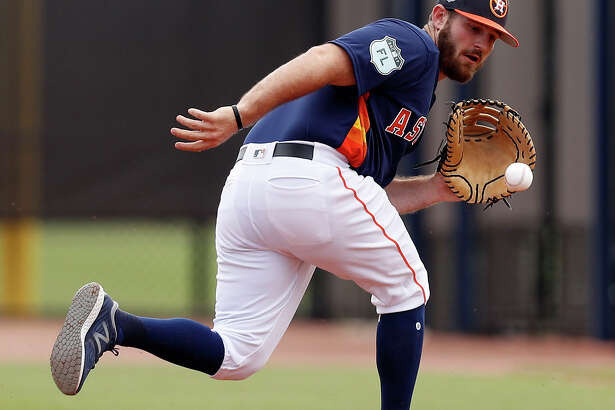 A long shot to make the opening-day roster for the Astros, first baseman Tyler White has been taking reps at third base as well.