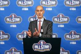 NEW ORLEANS, LA - FEBRUARY 18:  NBA Commissioner Adam Silver speaks with the media during a press conference at Smoothie King Center on February 18, 2017 in New Orleans, Louisiana. NOTE TO USER: User expressly acknowledges and agrees that, by downloading and/or using this photograph, user is consenting to the terms and conditions of the Getty Images License Agreement.  (Photo by Jonathan Bachman/Getty Images)