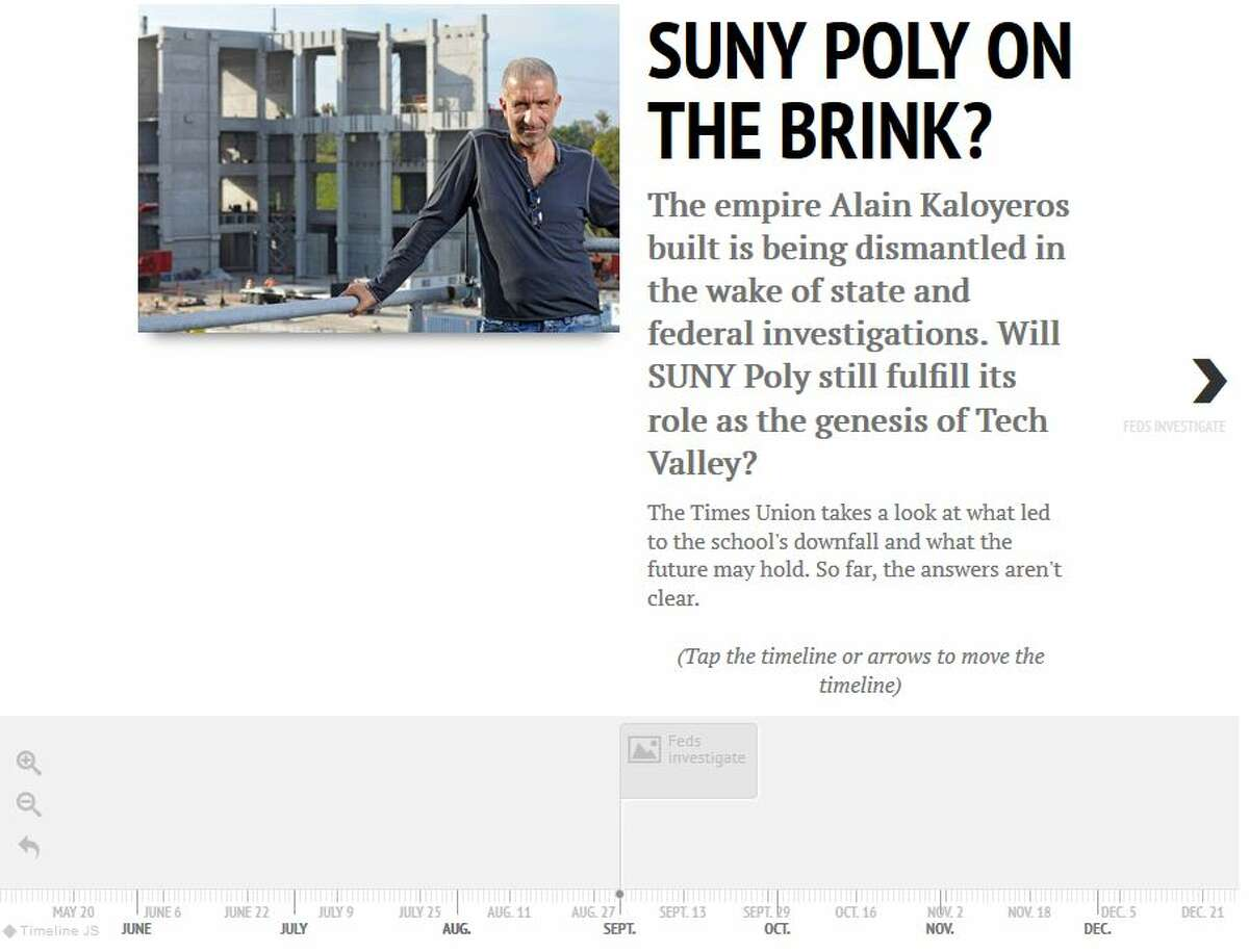Visit http://www.timesunion.com for an interactive timeline on events at SUNY Poly.