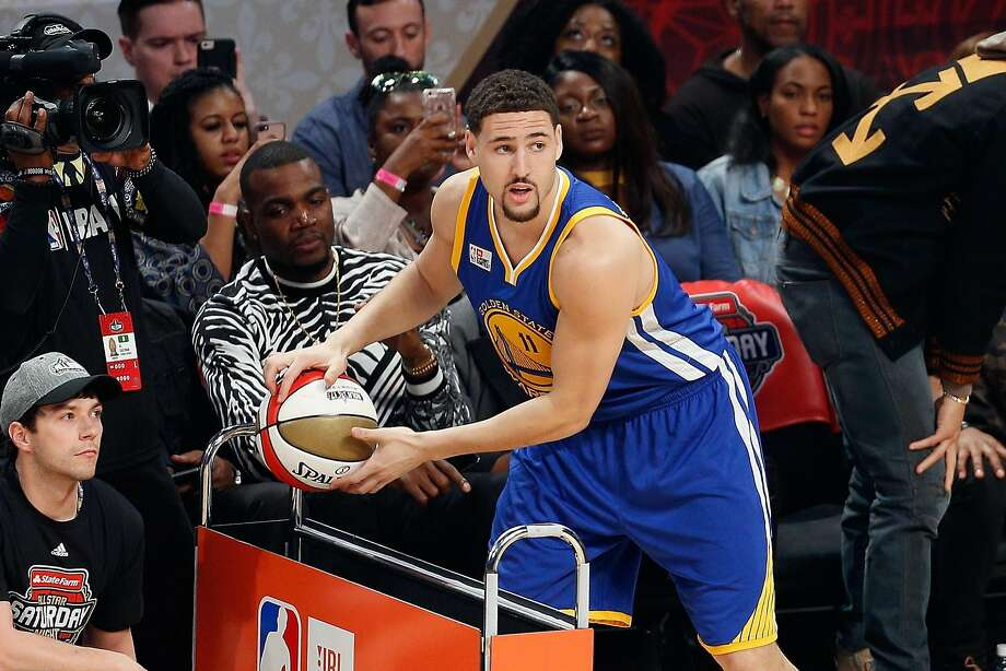 """""""They just didn't go in tonight,"""" said Klay Thompson, the winner last year. Photo: Jonathan Bachman, Getty Images"""
