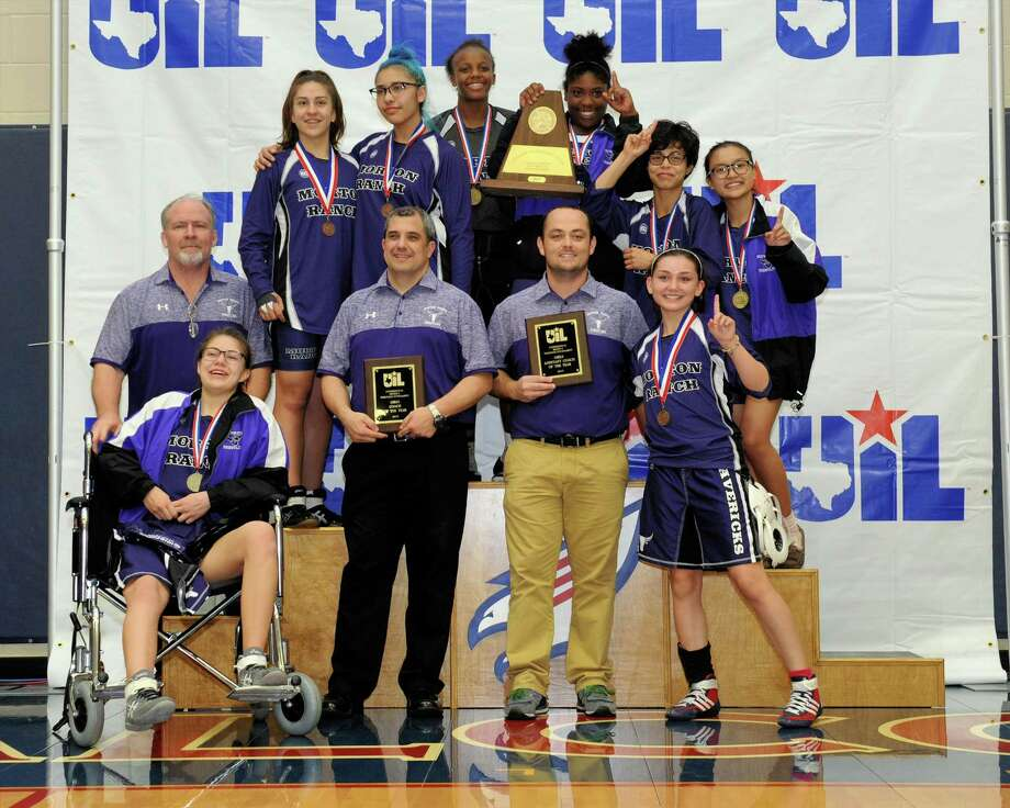 Morton Ranch High School won the girls team championship at the Region III 6-A UIL Wrestling Tournament on Saturday February 18, 2017 at Tompkins HS, Katy, TX. Photo: Craig Moseley, Staff / ©2017 Houston Chronicle