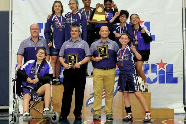 Morton Ranch High School won the girls team championship at the Region III 6-A UIL Wrestling Tournament on Saturday February 18, 2017 at Tompkins HS, Katy, TX.