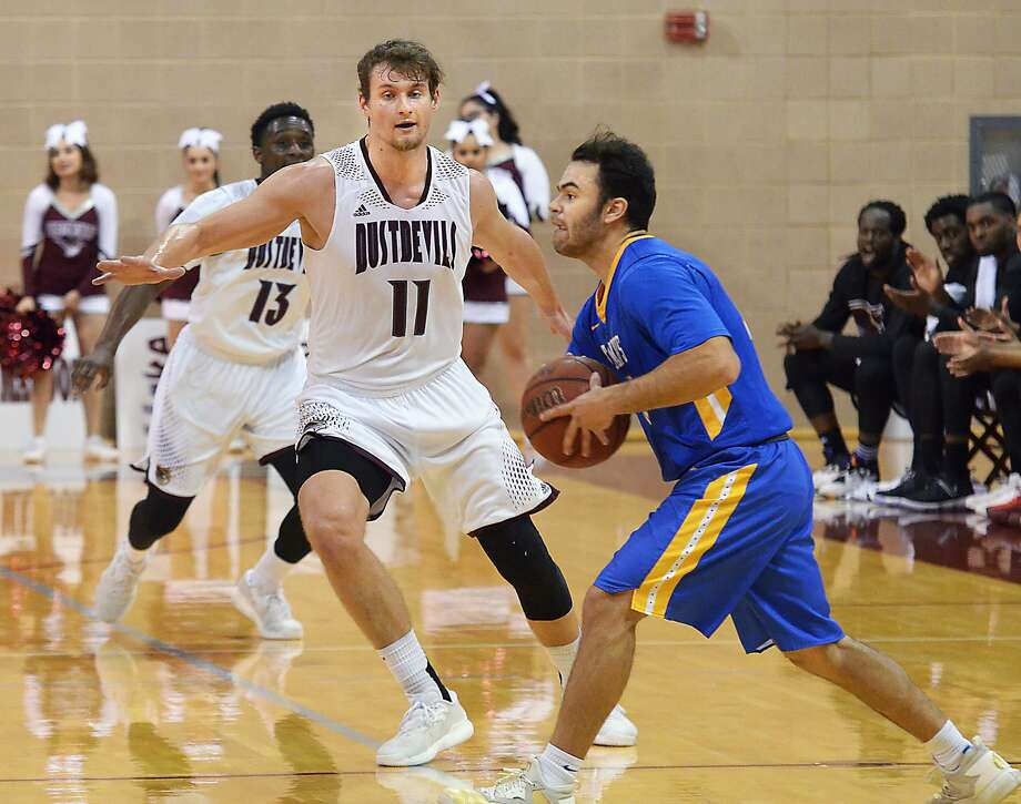 TAMIU senior Dan Milota is tied for the team lead with 13.8 points ranking 10th in the Heartland Conference. The Dustdevils host unbeaten Texas A&M-Kingsville Friday at 7 p.m. Photo: Cuate Santos /Laredo Morning Times File / Laredo Morning Times