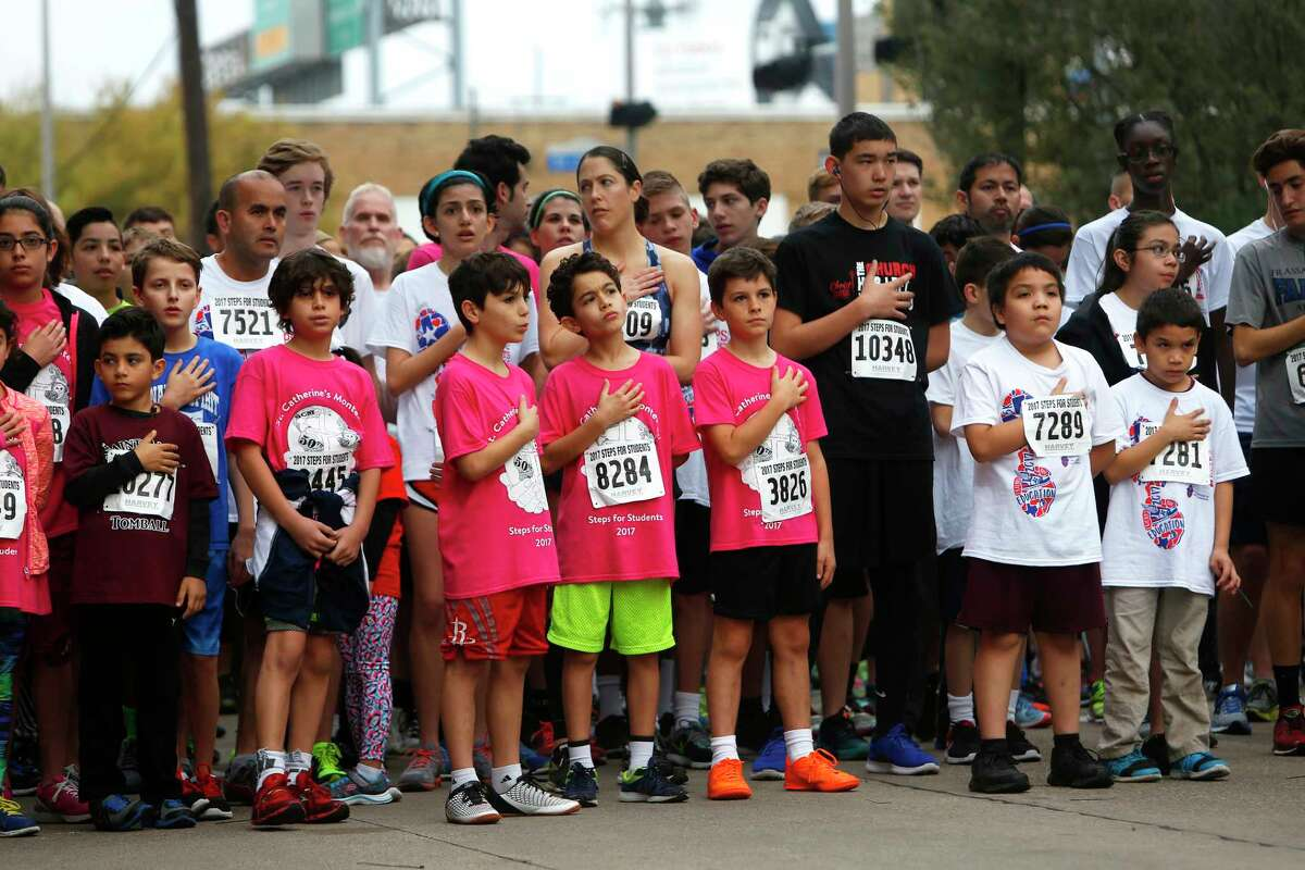 Participants in the 12th Annual Steps-for-Students 5K Run/Walk on Saturday, Feb. 18, 2017, in Houston.