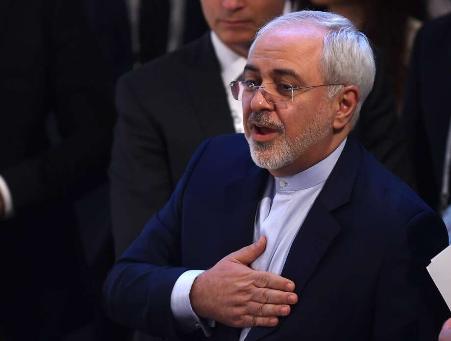 "Foreign Minister Mohammad Javad Zarif told diplomats and defense officials at the Munich Security Conference that ""Iran doesn't respond well to threats."" Photo: CHRISTOF STACHE, AFP/Getty Images"