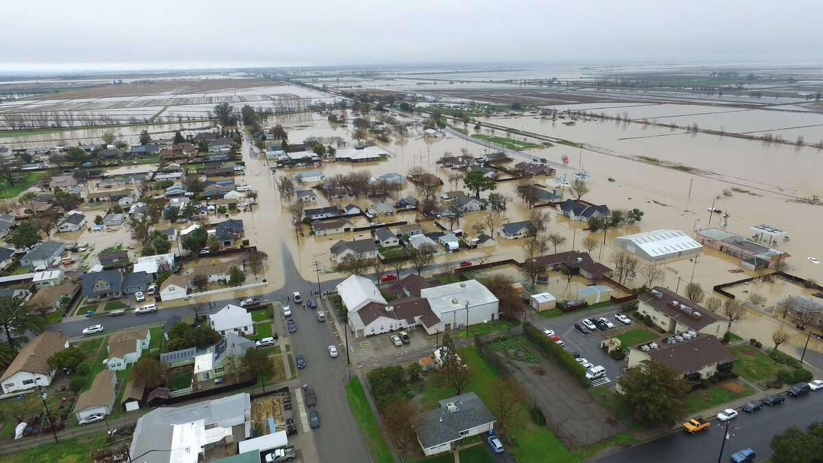 Flooding in Colusa County on Saturday.