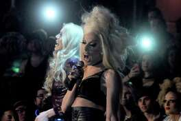 RuPaul's Drag Race stars Alaska and Sharon Needles show at South Beach Saturday Feb. 18, 2017.(Dave Rossman photo)
