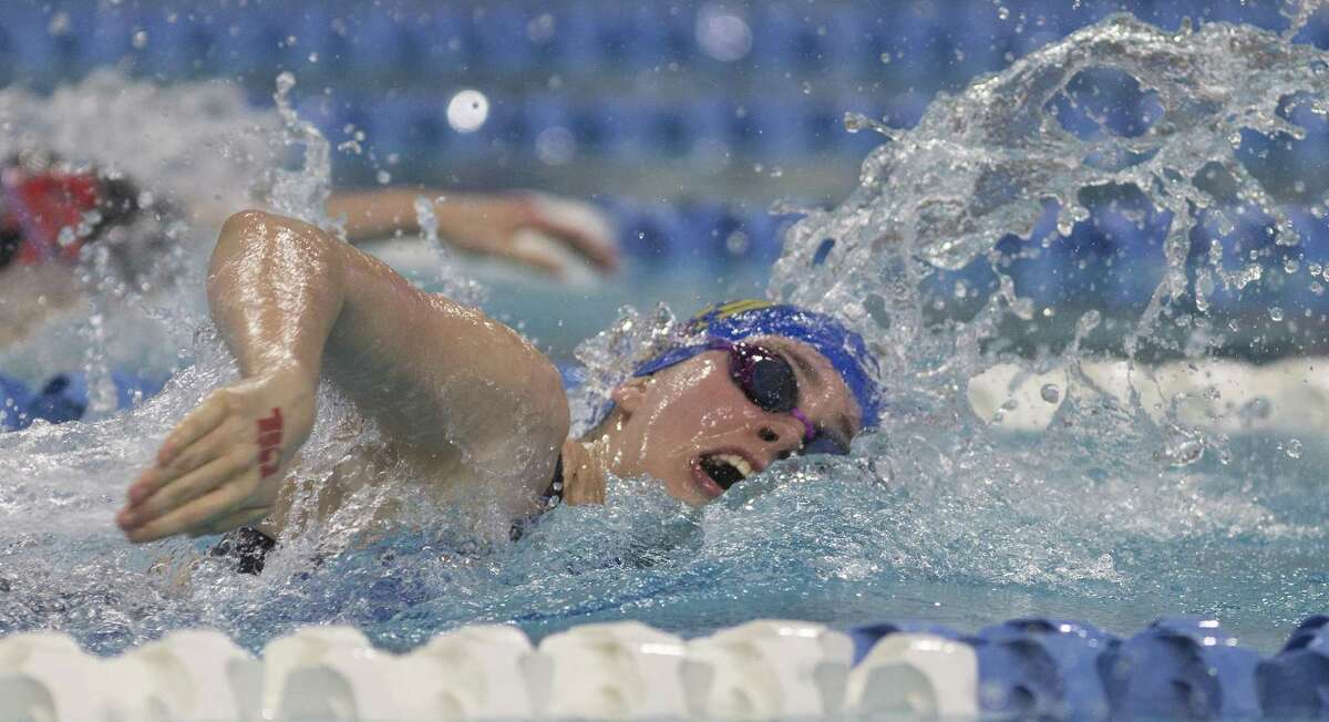 Alamo Heights' Ellery Parish competes in the 200-yard Freestyle during finals of the Class 5A UIL Swimming and Diving State Championships at the Jamail Texas Swim Center in Austin Saturday, Feb. 18, 2017. (Stephen Spillman / for San Antonio Express-News)