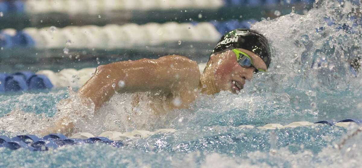 Reagan's Zach Yeadon competes in the 200-yard Freestyle during finals of the Class 6A UIL Swimming and Diving State Championships at the Jamail Texas Swim Center in Austin Saturday, Feb. 18, 2017. (Stephen Spillman / for San Antonio Express-News)