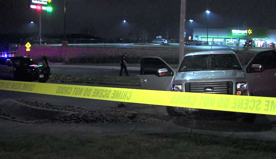 San Antonio police say one woman is dead following a traffic accident Saturday night, Feb. 18, 2017, at a Southeast Side Walmart. Photo: Pro 21 Video