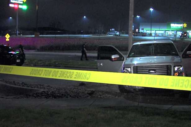 San Antonio police say one woman is dead following a traffic accident Saturday night, Feb. 18, 2017, at a Southeast Side Walmart.