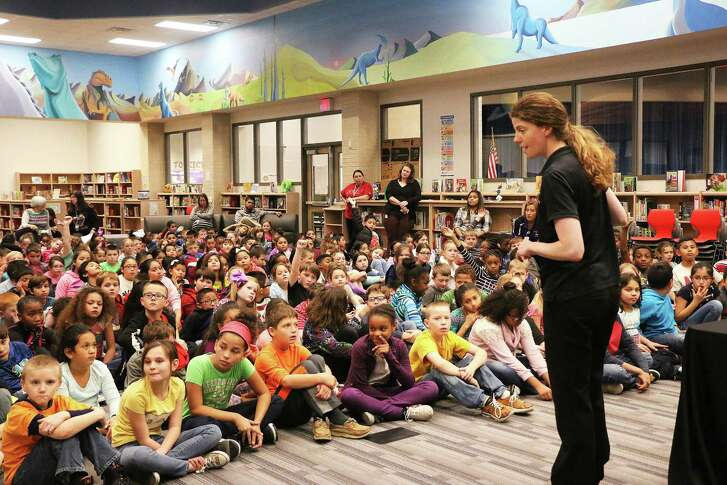 Carolyn Leap, who was named the 2012 Educator of the Year by the Texas Association of Museums, took students on a journey through concepts in chemistry, physics and through interactive demonstrations, illumined the minds of the more than 700 children in attendance.