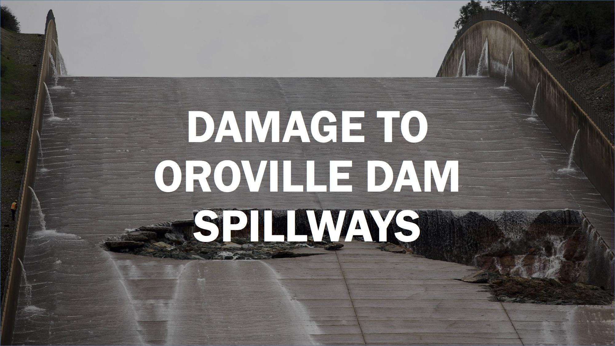 dramatic photos damage to oroville dam spillways sfgate