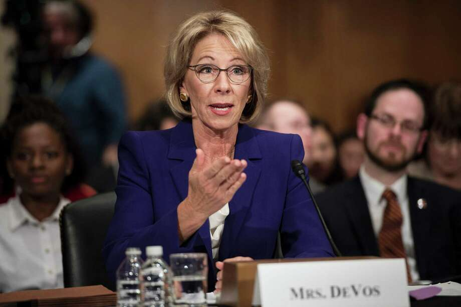 Education Secretary Betsy DeVos aborted student-loan reforms in a memo last week. Photo: BRENDAN SMIALOWSKI, Staff / AFP or licensors