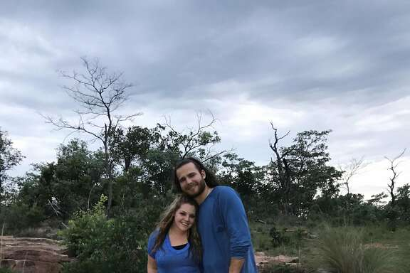 Jalynne and Brandon Crawford on safari in South Africa.