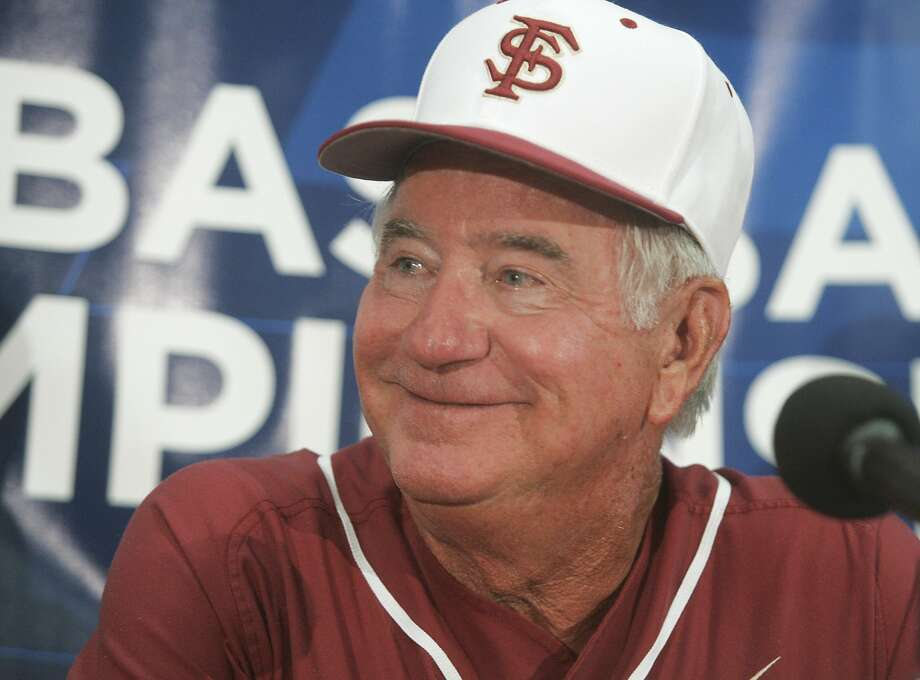 FILE - In this June 1, 2012, file photo, Florida State coach Mike Martin smiles during a game in Tallahassee, Fla. When Florida State opens its college baseball season against Virginia Commonwealth on Friday, Feb. 17, 2017, Martin will be two wins shy of becoming the second coach to reach 1,900 wins. (AP Photo/Phil Sears, File) Photo: Phil Sears, Associated Press
